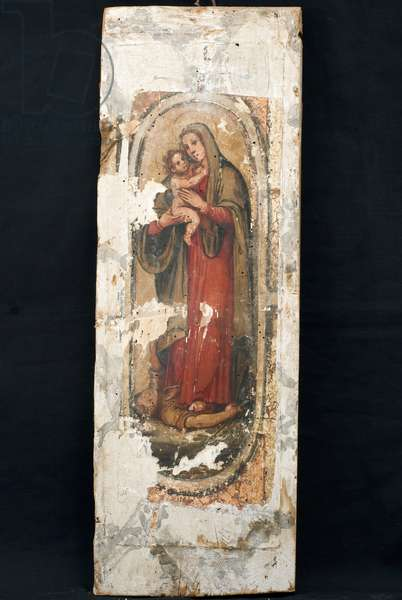Saint Catherine of Siena; Madonna and Child Jesus, c.1600-1610 (oil on board)