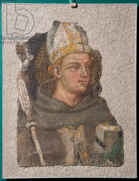 St. Ludwig of Toulouse, c.1415 (detached fresco)