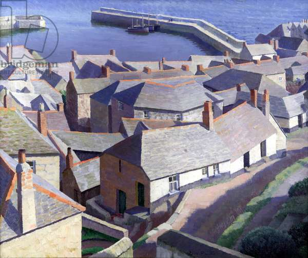 Early Morning Newlyn, 1926 (oil on canvas)