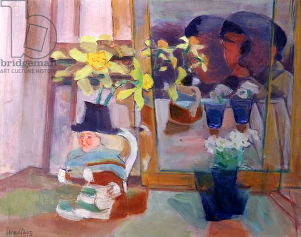 Toby Jug and Flowers, c.1944 (oil on canvas)