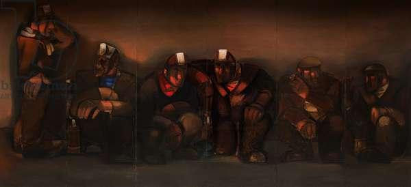 Miners, 1951 (oil on board)