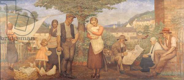 Family Life, c.1935 (oil on board)