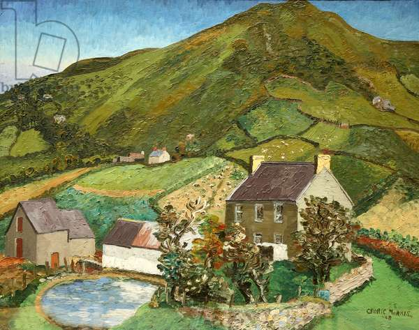 Llanmadoc Hill, Gower, 1928 (oil on canvas)