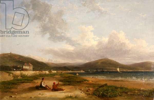 Fabians Bay, Swansea, 1844 (oil on canvas)