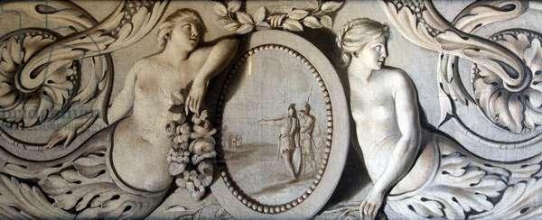 Decorative Panel (oil on canvas)