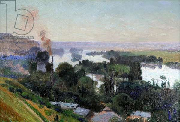 The Seine Above Rouen (oil on canvas)