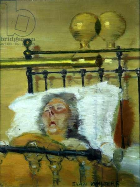 The Artist's Mother Asleep, c.1937 (oil on canvas)