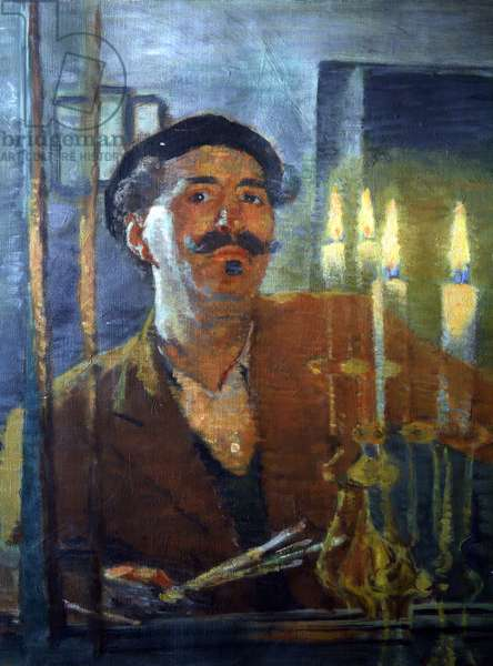 Self Portrait with Candle, c.1939 (oil on canvas)
