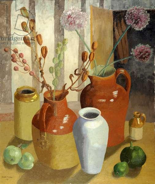 Margaret's Pots, 1965 (oil on canvas)