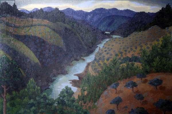 River Zezere, Portugal, 1950 (oil on canvas)