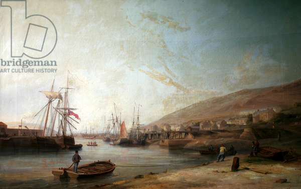 Hafod Copper Works River Tawy, Swansea, c.1840s-50s (oil on canvas)