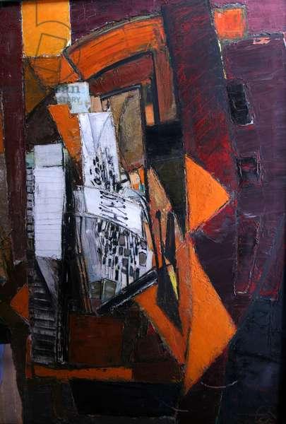 Hammerclavier Theme (oil on canvas)
