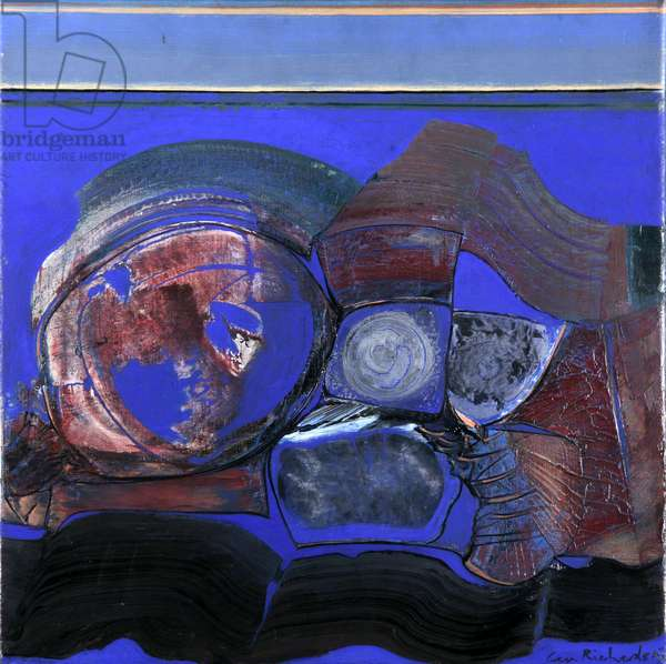Enclosed in Deep Blue, 1962 (oil on canvas)
