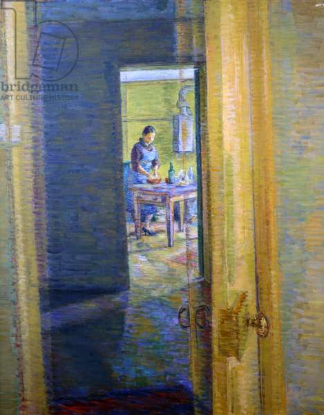 Girl in Kitchen, c.1938 (oil on canvas)