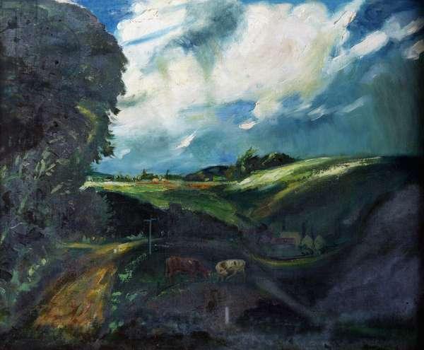 Landscape Near Brill (oil on canvas)