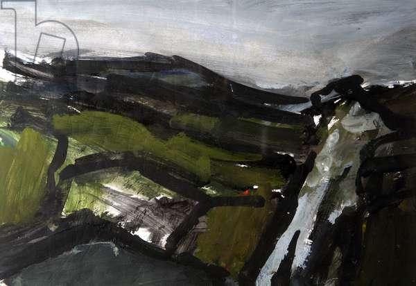 Landscape, 1983 (acrylic on paper)