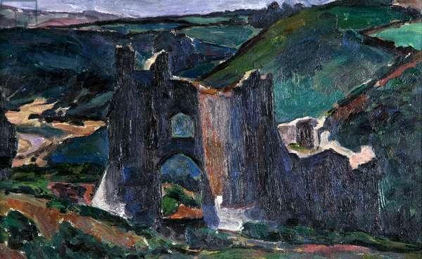 Pennard Castle, 1926 (oil on canvas)