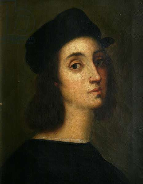 Copy of Raphael's self portrait from the Uffizi Gallery, Florence (oil on canvas)