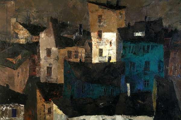 Umbrian Landscape, 1964 (oil on canvas)