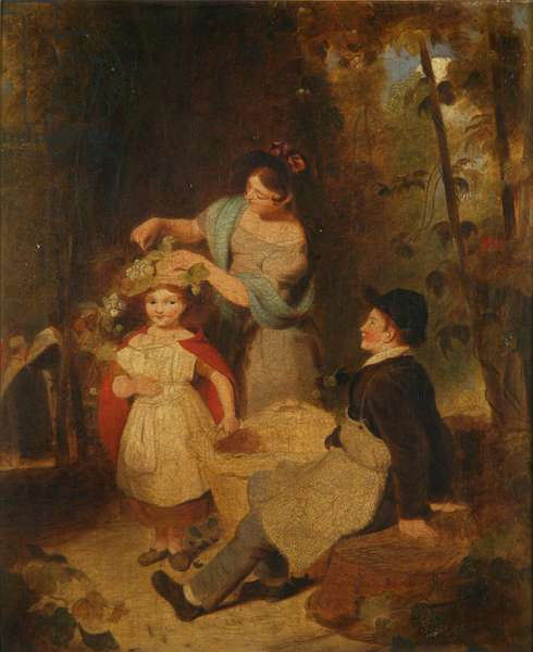 The Hop Pickers (oil on canvas)