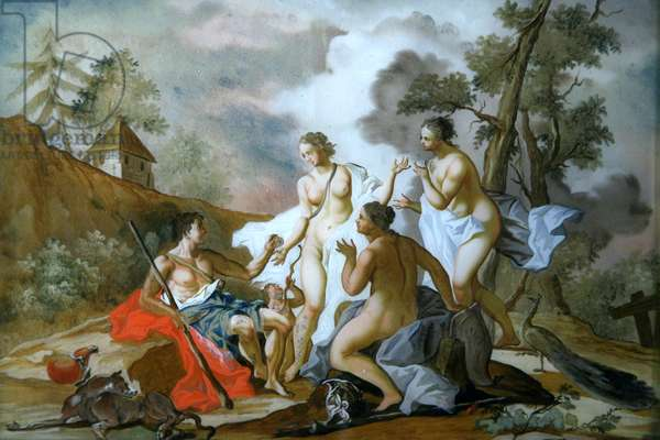 The Judgement of Paris (painting on glass)