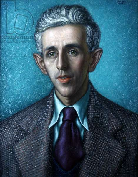 Portrait of Vernon Watkins, 1947 (oil on canvas)