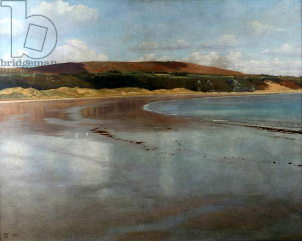 Oxwich Bay, Gower, 1907 (oil on canvas)