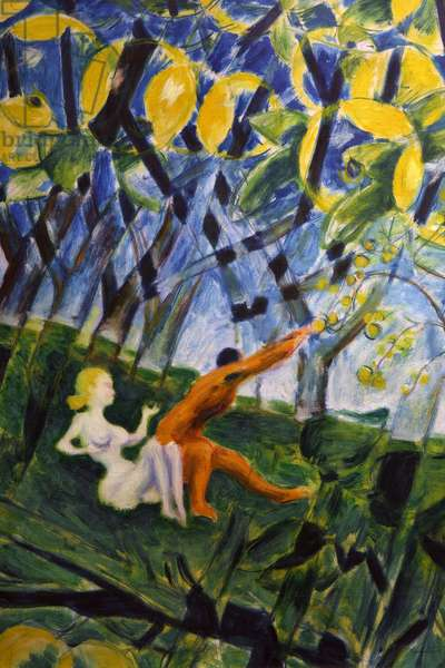 Adam and Eve, 1945 (oil on canvas)