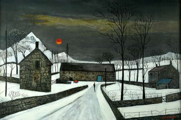 Welsh Farm, c.1950 (oil on canvas)