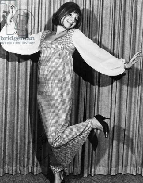 Barbra Streisand portrait dancing, signed