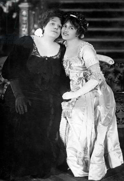Rosina Filippi as Mrs Alington and Ellaline Terriss as Betty Silverthorne in ' The Beauty of Bath ', musical comedy by Seymour Hicks and Cosmo Hamilton, lyrics by C