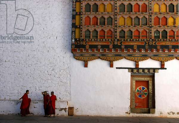 Bhutan - Monks at