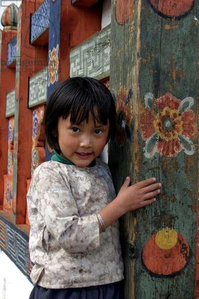 Bhutan - Girl at