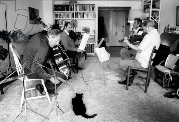 Guarneri Quartet rehearsing in