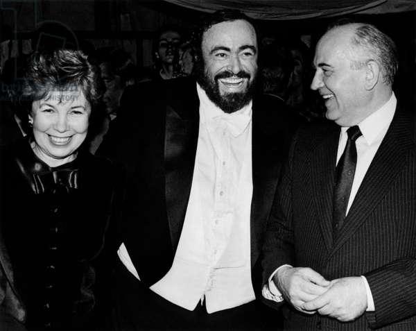 Luciano Pavarotti with Raissa