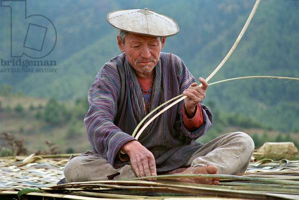 Bhutan - Man working