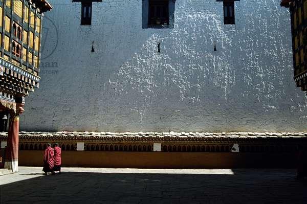 Bhutan - Monks in