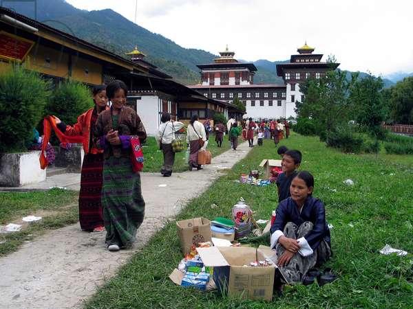 Bhutan - People visiting