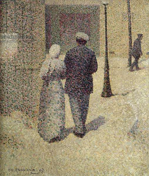 A Couple in the Street, 1887 (oil on canvas)