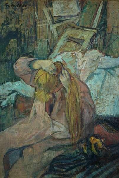 Woman doing her hair, 1891 (oil on cardboard)