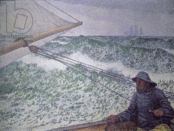 The Man at the Tiller, 1892 (oil on canvas)