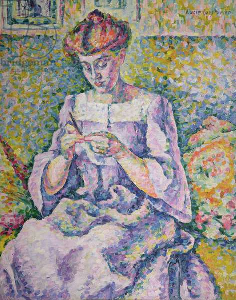 Woman Crocheting, 1908 (oil on canvas)