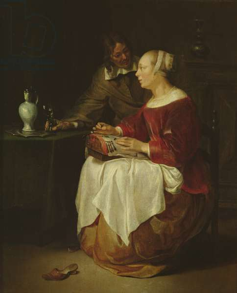 The Lacemaker (oil on panel)