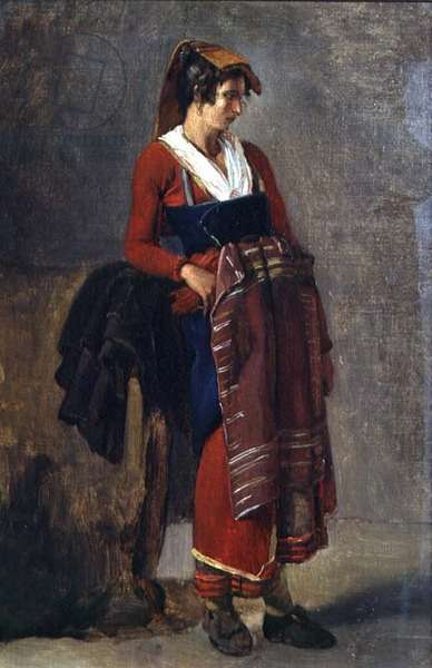 Peasant from the Outskirts of Rome, 1818-21 (oil on canvas)