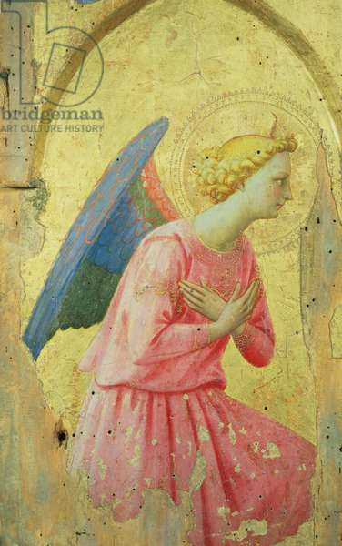 Adoration of an Angel, c.1430-40 (tempera on panel)