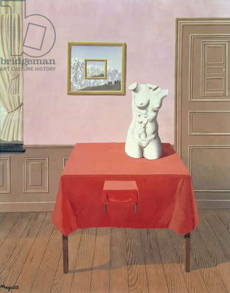Two Torsos on Two Tables (oil on canvas)