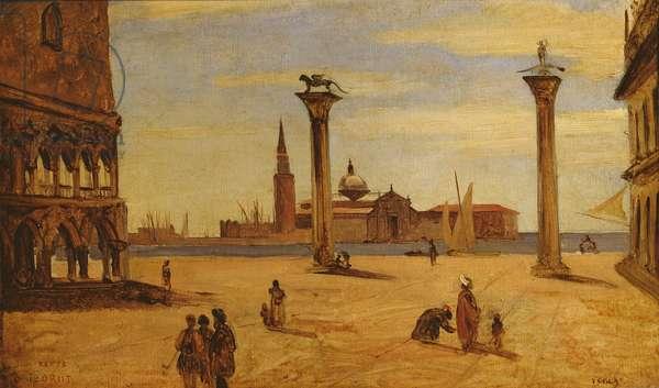 Piazzetta di San Marco, Venice, 1828-34 (oil on canvas)