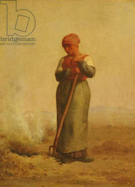 The Stubble Burner (oil on canvas)