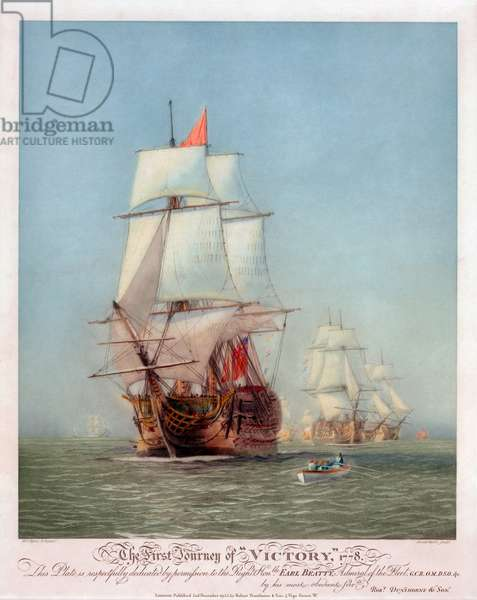 The First Journey of the HMS Victory, 1922 (etching and aquatint)