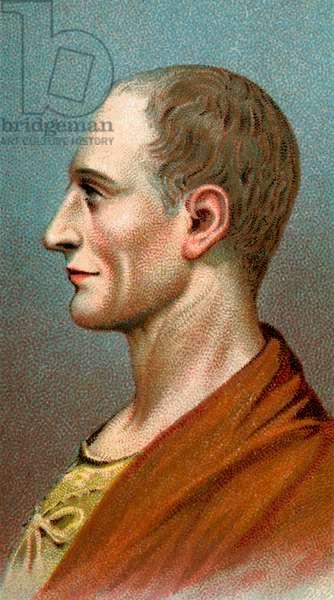Portrait of Julius Caesar, 1923 (chromolithograph)